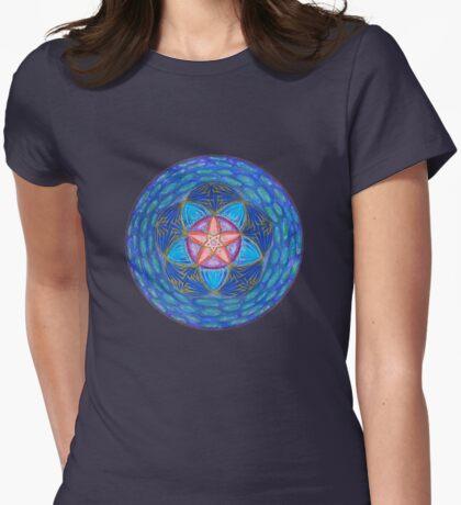Mandala : Amplify Womens Fitted T-Shirt