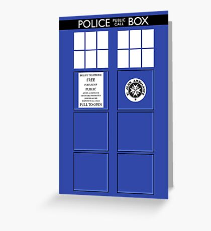 Police Box Greeting Card