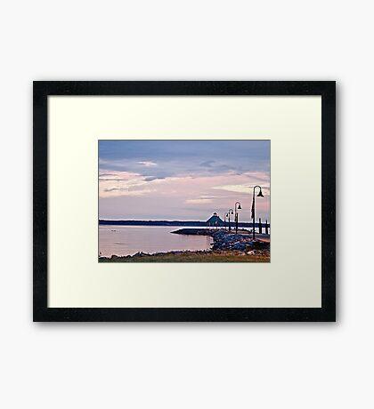 Kentucky Lake Pier - Memorial Day Weekend Framed Print