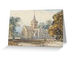 William Callow, R.W.S. (Greenwich  Great Missenden) View of St Agnes's Church, Greeting Card