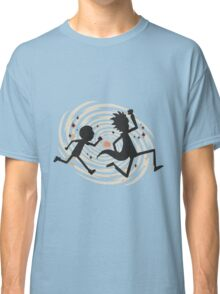 rick n morty runing Classic T-Shirt
