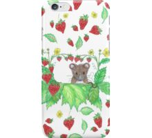 Strawberry mouse iPhone Case/Skin