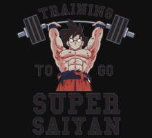 training super saiyan  One Piece - Short Sleeve