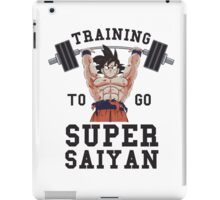 training super saiyan  iPad Case/Skin