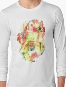 Large Bee Non Transparent Long Sleeve T-Shirt