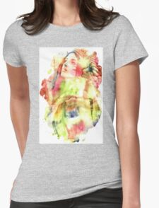 Large Bee Non Transparent Womens Fitted T-Shirt