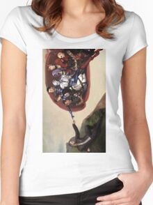 ME sistine chapel parody Women's Fitted Scoop T-Shirt