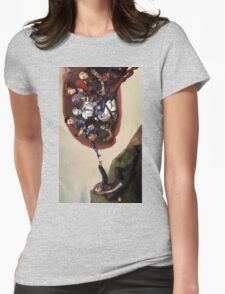 ME sistine chapel parody Womens Fitted T-Shirt