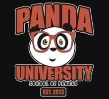 Panda University - Orange 2 Baby Tee
