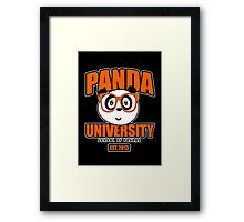 Panda University - Orange 2 Framed Print