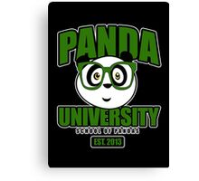 Panda University - Green 2 Canvas Print