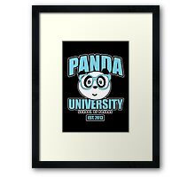 Panda University - Blue 2 Framed Print