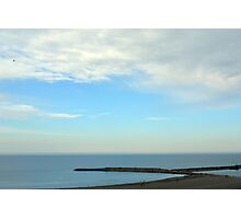 Natural image with beautiful seaside and cloudy sky. Photographic Print