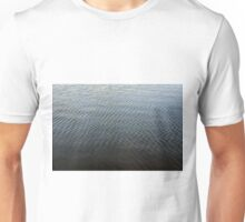 Texture of ripples in the water. Unisex T-Shirt