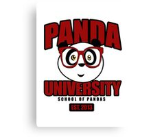 Panda University - Red Canvas Print
