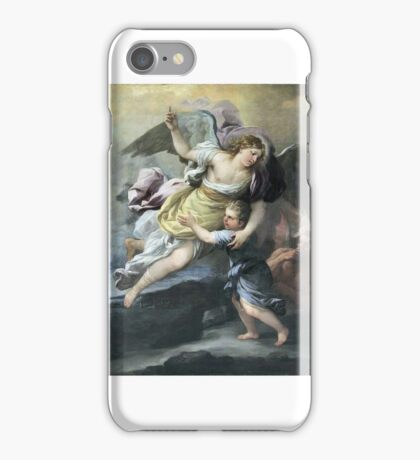 18th century rendition of a guardian angel. iPhone Case/Skin