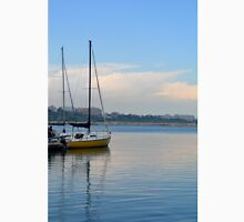 Photography of boat in the harbor on sunny day, in Constanta port, Romania. Unisex T-Shirt