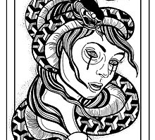 The Snake Charmer Postcard (No.2 of 10) by Paleface