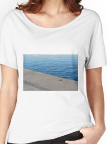 Ripples in the blue water. Women's Relaxed Fit T-Shirt