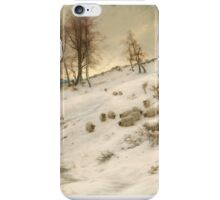 A Flock of Sheep in a Snowstorm , Joseph Farquharson iPhone Case/Skin
