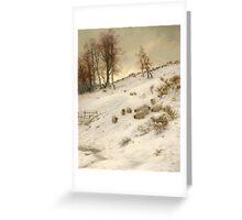 A Flock of Sheep in a Snowstorm , Joseph Farquharson Greeting Card