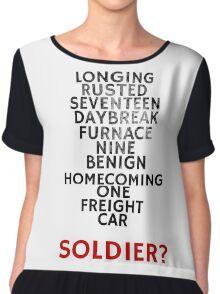 Winter Soldier Activation Code Words - Textured Chiffon Top