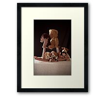 Checking In On the Kids Framed Print