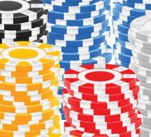 Casino Chips Sticker