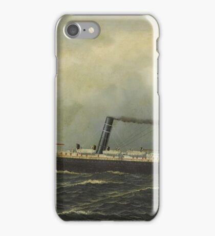 Antonio Jacobsen - Steamship Seguranca,  iPhone Case/Skin