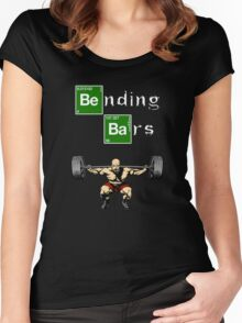 Bending Bars Walter White Gym Motivation Women's Fitted Scoop T-Shirt