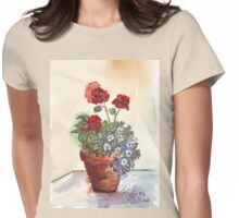 Looking forward to beautiful Geraniums Womens Fitted T-Shirt