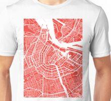 Amsterdam, Netherlands Map Art Unisex T-Shirt