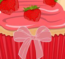 Sweet Strawberry Cupcake Sticker
