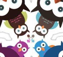 Owl Crowd Sticker