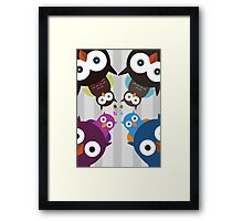 Owl Crowd Framed Print
