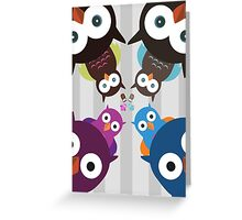 Owl Crowd Greeting Card