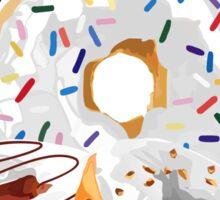 Panda & White Donuts Sticker