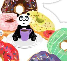 Panda & Donuts Sticker