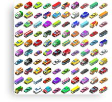 Cars Game Icons Isometric Vehicles Metal Print
