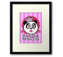 Panda Princess Framed Print