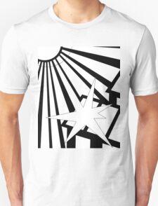 Sol Burst (Black White) Unisex T-Shirt