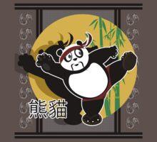 Martial Arts Panda - Green One Piece - Short Sleeve