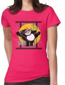 Martial Arts Panda - Green Womens Fitted T-Shirt