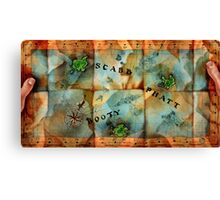 Monkey Island Map Canvas Print