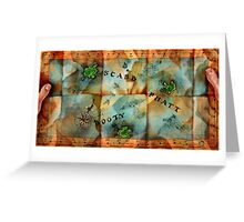 Monkey Island Map Greeting Card