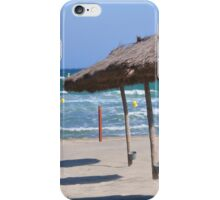 Sea , sand and umbrella  iPhone Case/Skin