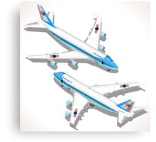 Boeing Aircraft Isometric Airplane Canvas Print