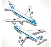 Boeing Aircraft Isometric Airplane Photographic Print