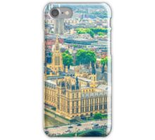 Aerial view of the Big Ben, the Parliament and the Thames river iPhone Case/Skin