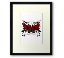 Guns and Roses RED Framed Print